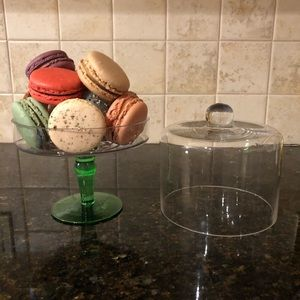 Other - Mini pedestal cake stand with glass cover